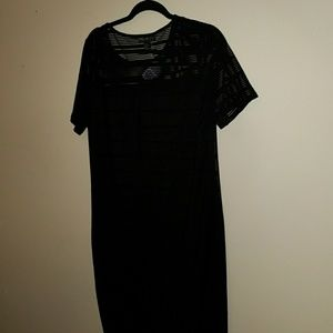 F21+ Sheer illusion dress